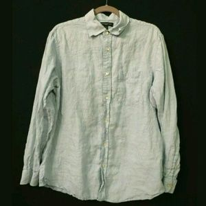 Banana Republic men's 100% linen shirt